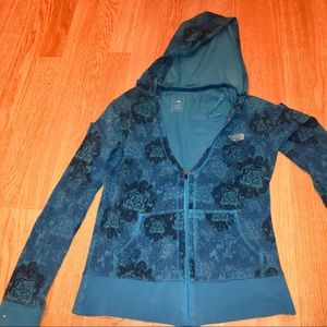 The North Face 1/2Zip Deep V-Neck Floral Hoodie-XS